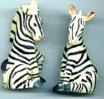 Click here to enlarge image and see more about item NE13: ZEBRAS Zebra - Noahs Noah's Endearing Mates Pair set - HTF artist Elfie Harris