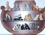 Click to view larger image of PENGUINS Noah's Noahs Endearing Mates Pair set  E. Elfie Harris MIB w/COA VHTF (Image4)