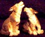 Click to view larger image of WOLF WOLVES - Noah's Noahs Endearing Mates Pair by Elfie Harris (Image2)
