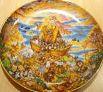 Click to view larger image of Franklin Mint Two by Two Bill Bell Limited Edition Plate Noah Noahs Noah's Ark 2x2 91 (Image1)