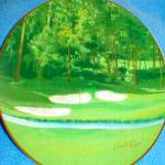 Click here to enlarge image and see more about item NORITAKE2: Arnie's Best 18 Holes NORITAKE Arnold Palmer Augusta GA Golf Plate PGA #1 MIB Masters
