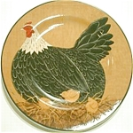Click to view larger image of WARREN KIMBLE HENNY & PENNY YELLOW Sakura Casual Dining Oneida Stoneware Salad Hen CH (Image1)