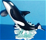 Click to view larger image of Splashdown OCEAN ODYSSEY Series Sculpture Artist WALT YOUNGSTROM Orca Killer Whale (Image1)