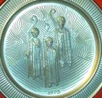 Click to view larger image of 1973 THREE WISE MEN Selandia Norway Pewter Kings Magi 3 #2 Annual Christmas Limited E (Image1)