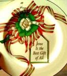 Click here to enlarge image and see more about item PFALTZ1: Jesus is the Best Gift of All Pfaltzgraff China USA Christmas 10 ½ inch Plate