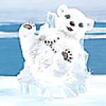 Click to view larger image of SLIP'N & SLIDE'N POLAR PLAYMATES BEARS Slipn Slidn Artist Michael Adams (Image2)