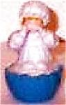 Click here to enlarge image and see more about item PRESENTS12: Munchkinland Baby Wizard Oz Hamilton Presents Pvc Figur Ornament MGM Loews 50th anniv