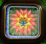 Click here to enlarge image and see more about item QUILT2: BRADFORD EXCHANGE THE STAR QUILTS PLATE Bradex 84-B10-196.1 Mary Ann Lasher 1994 #2