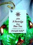 Click to view larger image of PARTRIDGE IN A PEAR TREE SP2 SP-2 12 DAYS  #1 VHTF Christmas Radko Ornament Twelve (Image5)