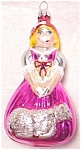 Click to view larger image of Little Bo Peep #94-062-0 pink dress white sheep blown glass handmade Poland Tag No Bx (Image1)