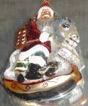 Click to view larger image of CAROUSEL SANTA 95-133-0 '95 ORIGINAL On Horse GERMANY Christopher Radko Ornament Orni (Image2)