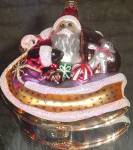 Click here to enlarge image and see more about item RADKO46: SLEIGH FULL 1996 SANTA 96-150-0 Christopher Radko
