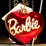 Click to view larger image of 98-Bar-03 MATTEL BARBIE Heart Ornament MIB TAG Poland Christopher Radko (Image1)