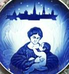 Click here to enlarge image and see more about item RC10: 1895 1908 Royal Copenhagen Bing & Grondahl Maria and Her Child Christmas '87 LE Plate