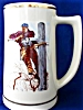 Click to view larger image of NORMAN ROCKWELL TELEPHONE LINEMAN TANKARD STEIN PIONEERS OF AMERICA Surrey Group Mug (Image4)