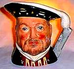 Click here to enlarge image and see more about item RODO3: Henry VIII #D6648 '75 Mini Toby Character Jug