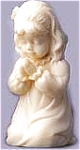 Click here to enlarge image and see more about item ROMAN11: 1997 Roman Millennium Collection Children's Kneeling Girl In Prayer #43779