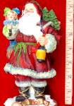 Click here to enlarge image and see more about item ROMAN1: 1900 American Santas Through The Decades Galleria Lucchese Cloth-like '98 #66950