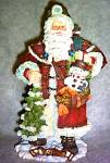 Click here to enlarge image and see more about item ROMAN20: 1930 American Santas Through The Decades Galleria Lucchese Cloth-like Cloth Like 1996