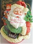 Click here to enlarge image and see more about item ROMAN5: 1910 American Santas Thru Decades Galleria Lucchese ROLY POLY ROLLY POLLY #66901
