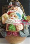 Click here to enlarge image and see more about item ROMAN6: 1880 American Santas Thru Decades Galleria Lucchese ROLY POLY ROLLY POLLY #66908