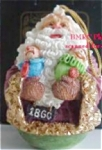 Click here to enlarge image and see more about item ROMAN7: 1860 American Santas Thru Decades Galleria Lucchese ROLY POLY ROLLY POLLY 66906 Roman