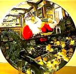 Click here to enlarge image and see more about item SANTAP1: SANTA TAKES A BREAK - SANTA'S RAILROAD by Artist Tom Newsom