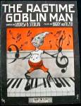 Click here to enlarge image and see more about item SHEETMUSIC100: RARE SHEET MUSIC! Art Nouveau The Ragtime Goblin Man! 1911 Halloween Black & Orange