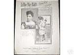 Click here to enlarge image and see more about item SHEETMUSIC103: I like It I Do Lillie May Hall's Beautiful Songs SHEET MUSIC  Risqué 1887 2 Pictures