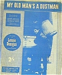 Click here to enlarge image and see more about item SHEETMUSIC106: Lonnie Donegan My Old Man's A Dustman Sixties Garbage Collector Sanitary Engineer Can
