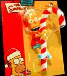 Click here to enlarge image and see more about item SIMPSONS3: Kurt S. Adler Bart Simpson licking Giant Candy Cane Holiday Ornament NIB ZTR4005 2003