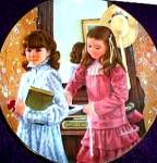 Click to view larger image of American Artist Sandra Kuck Childhood Almanac #1 SCHOOL DAYS September Plate (Image2)