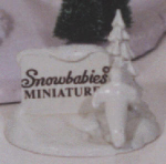 Click here to enlarge image and see more about item SNOWB2: Miniature Pewter Sign #76201 Snowbabies D56 Dept.56 penguin tree Kristi Jensen Pierro