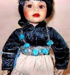Click to view larger image of Proud Indian Nation Navaho Navajo Little One Swanson Mill Pond Press Girl Turquoise (Image1)