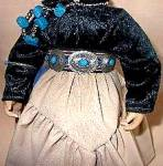 Click to view larger image of Proud Indian Nation Navaho Navajo Little One Swanson Mill Pond Press Girl Turquoise (Image3)
