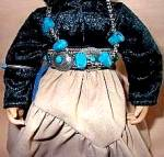 Click to view larger image of Proud Indian Nation Navaho Navajo Little One Swanson Mill Pond Press Girl Turquoise (Image5)