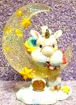 Click here to enlarge image and see more about item SSU3: HANG ON TO YOUR DREAMS STARLIGHT STARBRIGHT Unicorn Enesco #153923 Dangling Hamilton