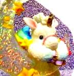 Click to view larger image of HANG ON TO YOUR DREAMS STARLIGHT STARBRIGHT Unicorn Enesco #153923 Dangling Hamilton  (Image2)