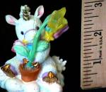 Click to view larger image of BELIEVE IN MIRACLES STARLIGHT STARBRIGHT Unicorn Enesco #153907 (Image3)