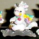 Click to view larger image of FOLLOW YOUR HEART STARLIGHT STARBRIGHT Unicorn Enesco #153974 Flying Carpet Hamilton (Image3)
