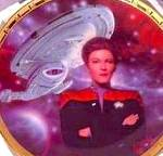 Click to view larger image of CAPTAIN JANEWAY & US VOYAGER STAR TREK® POWER OF COMMAND POC Art:K. Birdsong HAMILTON (Image1)