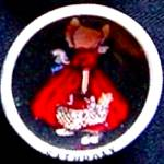 SUNBONNET BABY Mini 1 1/8 inch Porcelain Day Of The Week SATURDAY BERTHA CORBETT