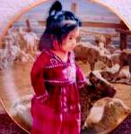 Out with Mama's Flock The Proud Nation Navajo Ray Swanson Mill Pond Girl Lambs Sheep