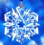 Click here to enlarge image and see more about item SWAR032: 1999 Annual Swarovski Star Snowflake Ornament SCO99 MIB COA