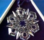 Click to view larger image of 1999 Annual Swarovski Star Snowflake Ornament SCO99 MIB COA (Image4)