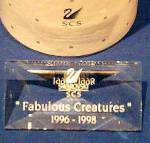 Click to view larger image of Swarovski FABULOUS CREATURES Series PLAQUE SCPCSNR4 Austrian Crystal Sign Display LE (Image2)