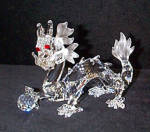 Click here to enlarge image and see more about item SWAR2: 1997  DRAGON SWAROVSKI COLLECTORS CLUB Member Fabulous Creatures Series #DO1X971