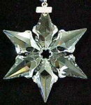 Click to view larger image of 2000 SWAROVSKI CRYSTAL SNOWFLAKE ANNUAL Dated Christmas ORNAMENT SCO-00 SCO00 STAR 00 (Image1)