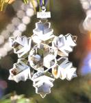 Click here to enlarge image and see more about item SWARO28: SWAROVSKI 1996 Annual STAR SNOWFLAKE SCO-96 Crystal ORNAMENT