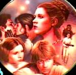 Click here to enlarge image and see more about item SWHV7: Star Wars Heroes Villains-PRINCESS LEIA-Birds